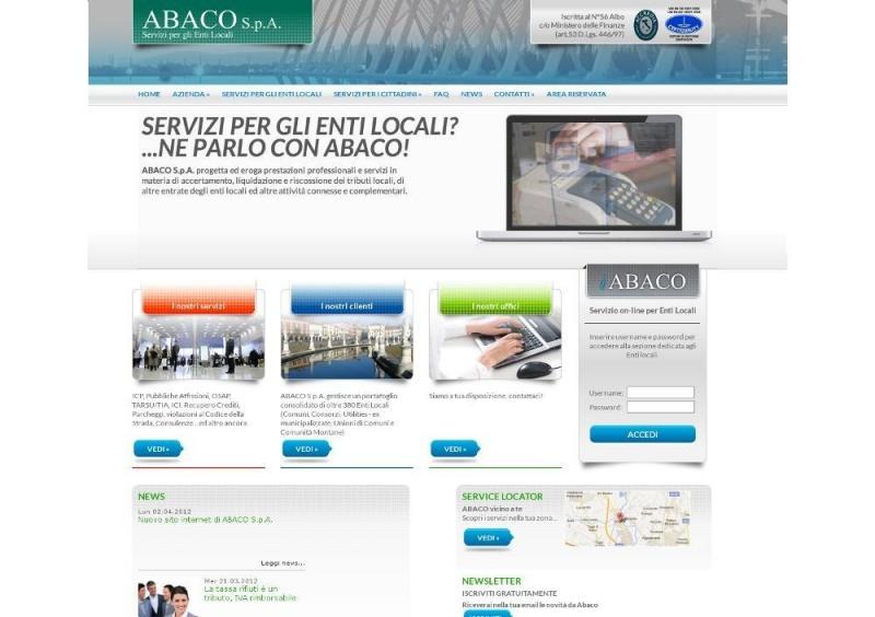 Nuovo sito internet di ABACO S.p.A.